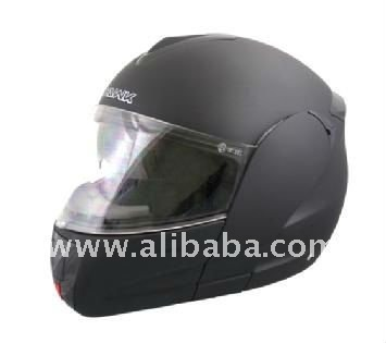 Hawk Flat Black Dual Visor Full Face Motorcycle Helmet