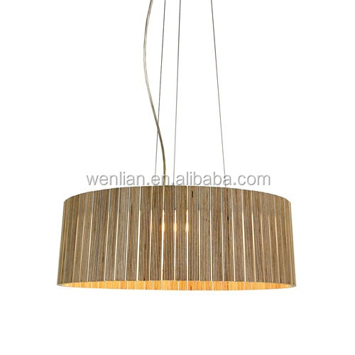 LED wooden pendant light for home decorative