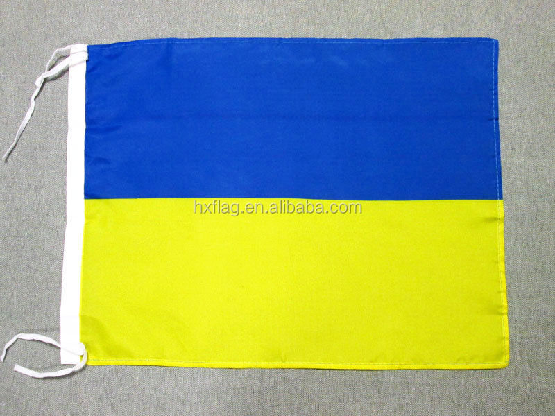 UKRAINE FLAG 18'' x 12'' - UKRAINIAN FLAGS 30 x 45cm - BANNER 18x12 in light pol