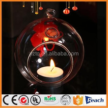 Wholesale Wedding decoration clear glass bauble tealight holder