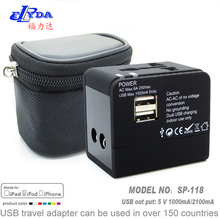 worldwide travel adapter with dual USB charger