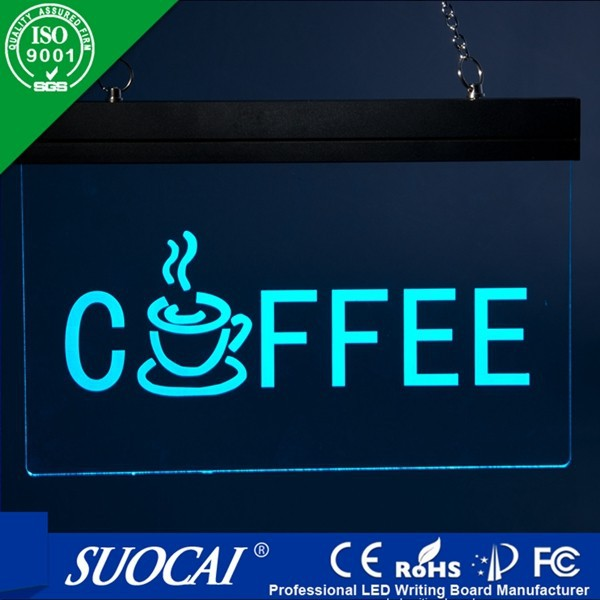 Professional High Quality led cafe neon sign led writing menu chalk board