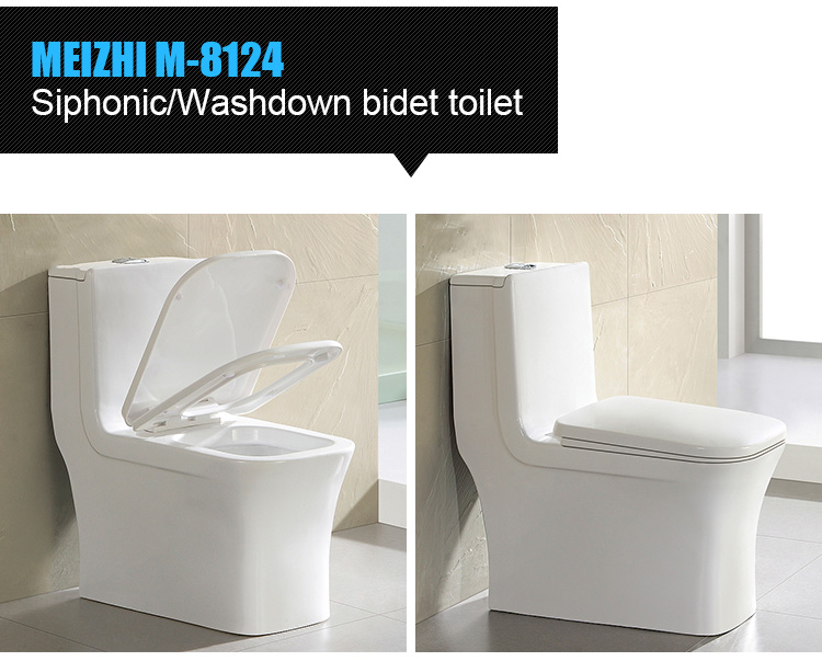 Square chinese ceramic closestool sanitary ware hotel design modern toilet