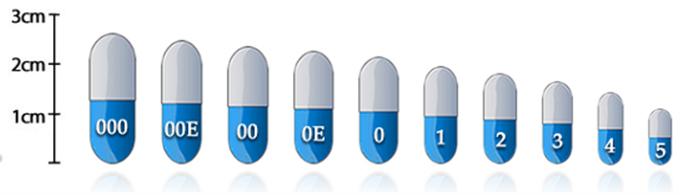 ナチュラル口腔栄養補助食品ハード製薬ゼラチンサイズ 1 カプセル 2020