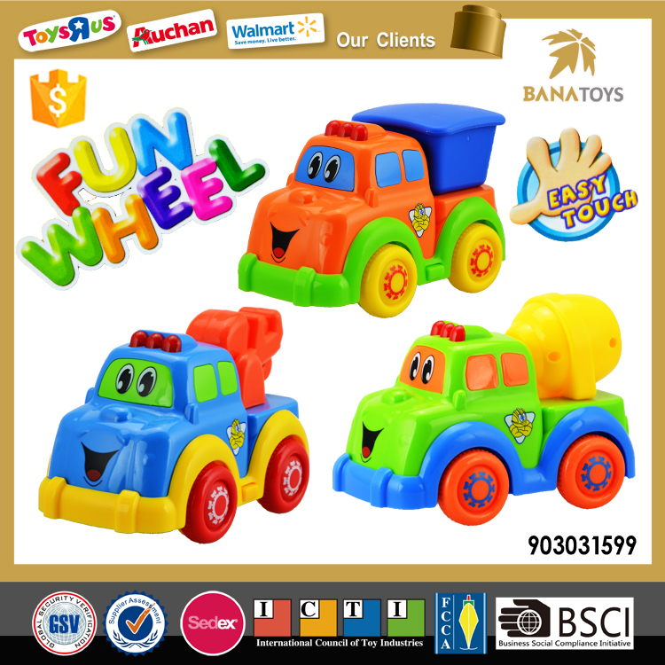 Plastic slide toy construction kids mini truck toy