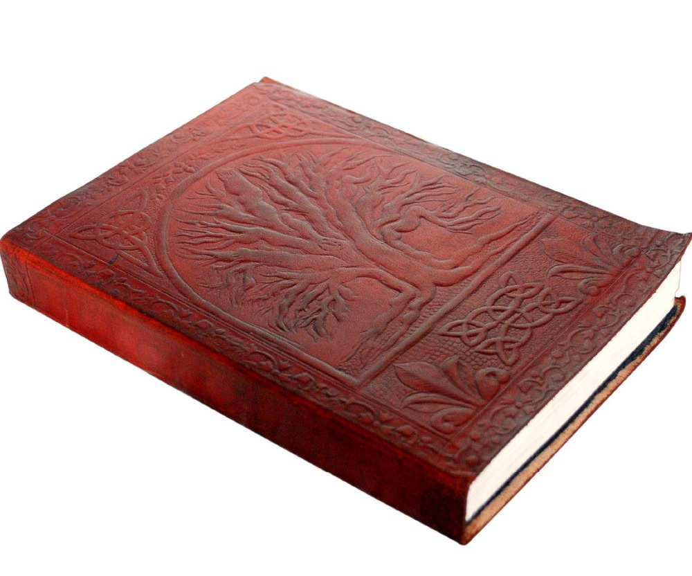 Wholesale 2017 Hot Sale Custom Tree of Life Vintage Journal Leather Notebook Diary blank book gifts