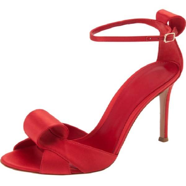 Elegant Women Sandals Peep Toe Ankle Strap Red Summer Wedding Shoes Spool High Heels Buckle Strap Chunky Ladies Shoes