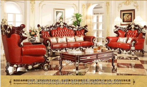 living room furniture/antique french style reproduction/red color sofa price