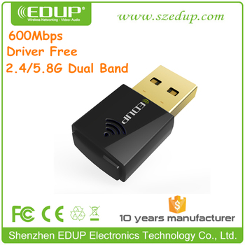 600M Driver Free Dual 2.4GHz / 5.8GHz Band USB WiFi Dongle
