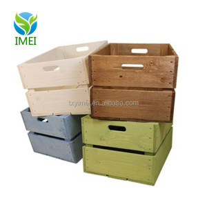 YM0769 antique style cheap wooden crates high quality cheap wooden fruit crates for sale good price wooden crates wholesale