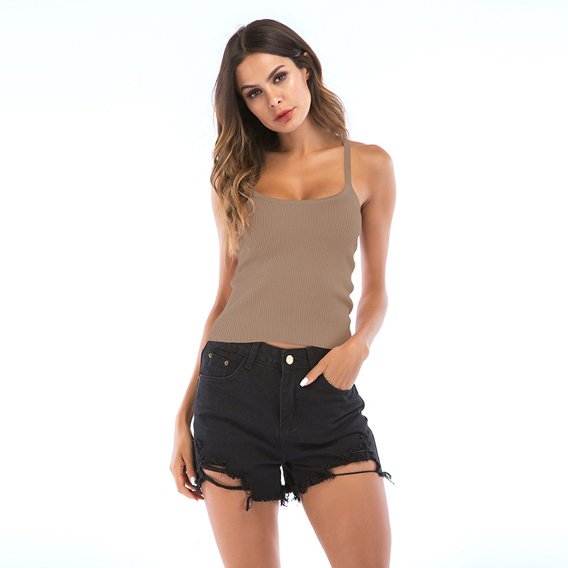 Quality women t shirts made in china boutique clothes round neck tshirt tank crop tops lingerie camisoles