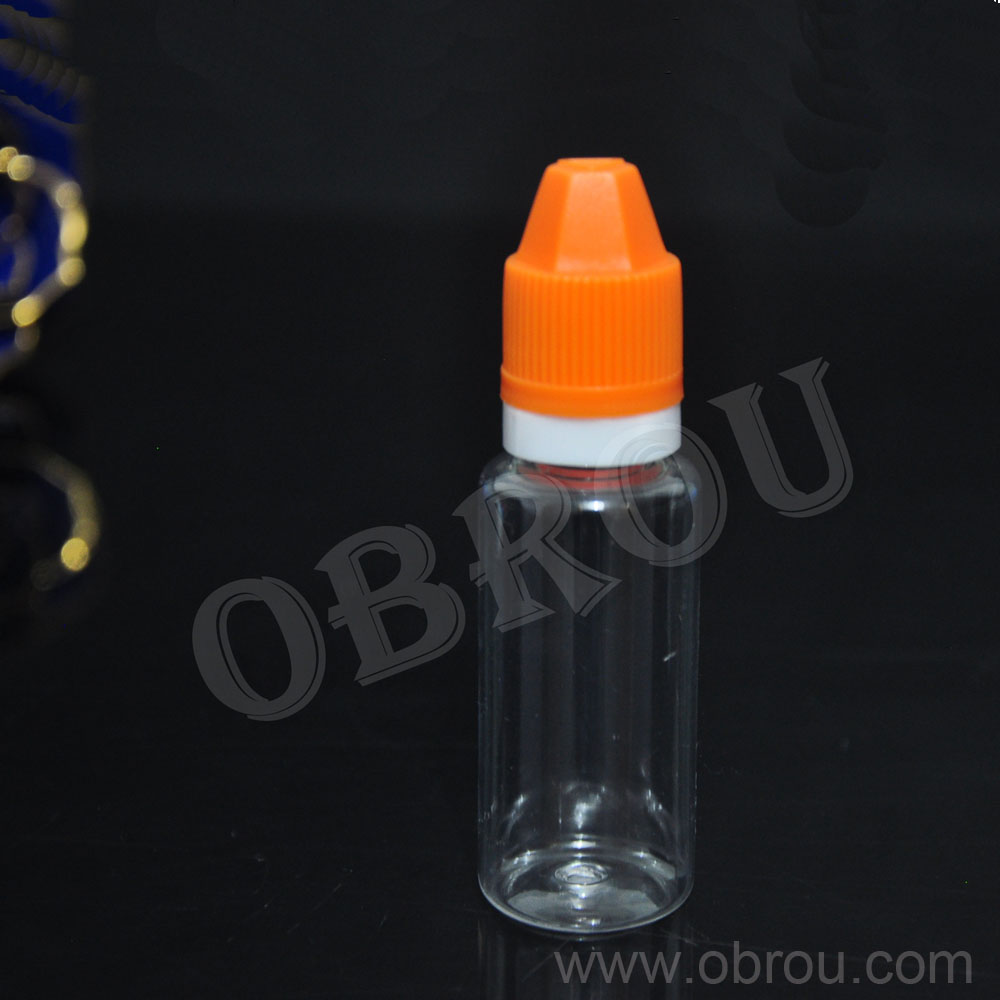 Free shipping 2000pcs High quality 15ml PET e juice dropper bottle with childproof and tamper evident sexangular cap