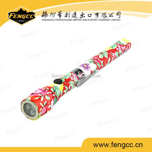 Promotion custom print long handle with LED blaze flashlight