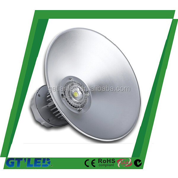 Reflector high bay light cover 120lm/w 50w high bay led light ip65 workshop led high bay lamp 200w