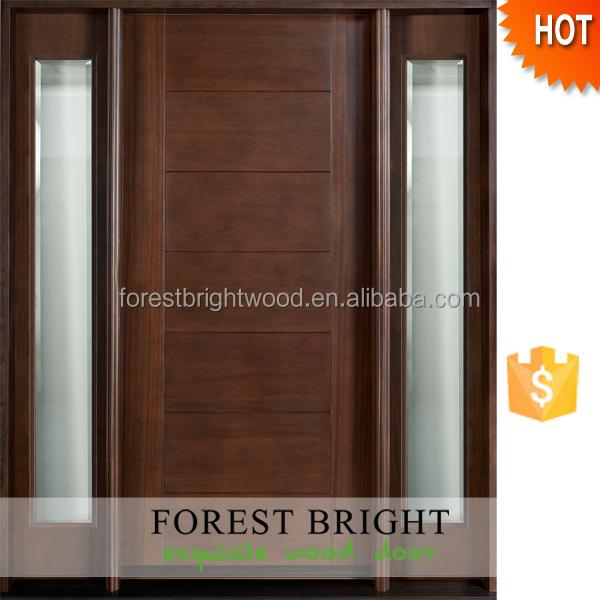 65x81 1 2x4 9 16 dise o moderno de madera maciza exterior for Diseno puerta principal