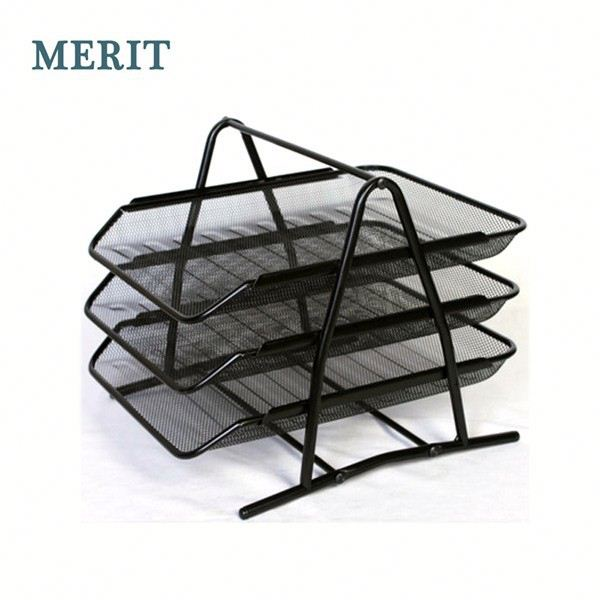 Organizer stackable Metal Mesh file tray