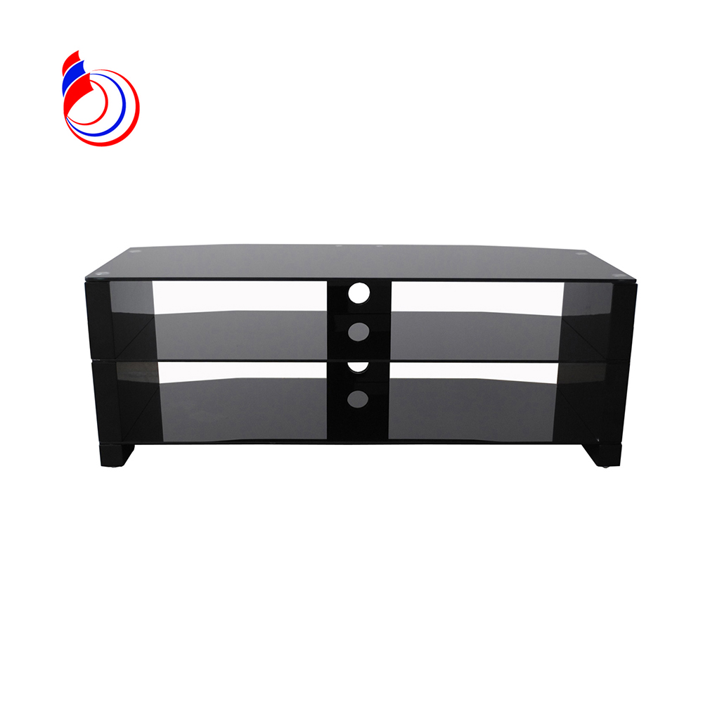 cheap glass tv stands with aluminum tube