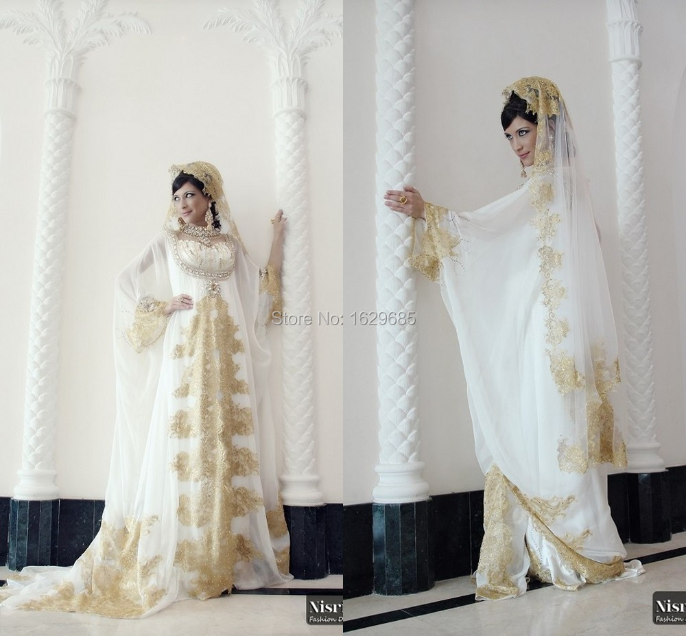 Ihram Kids For Sale Dubai: 2014 Vestidos Sweetheart Long Sleeves Golden Lace Diamond