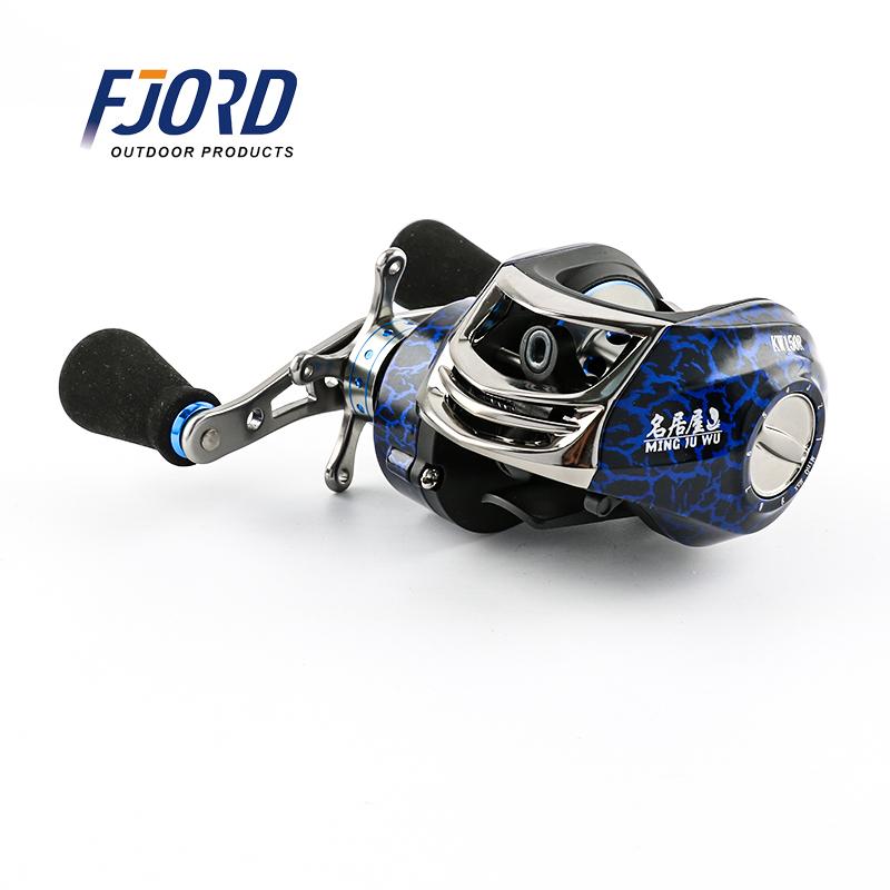 FJORD japan fishing reel manufacturers 8+1BB 6.3:1 Magnetic brake Metal bait casting fishing reel, Blue or customized