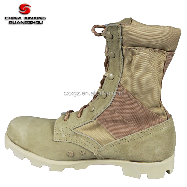 Military camo suede leather Desert camouflage boots