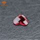 Beautiful design red glass gems heart shape red glass stones