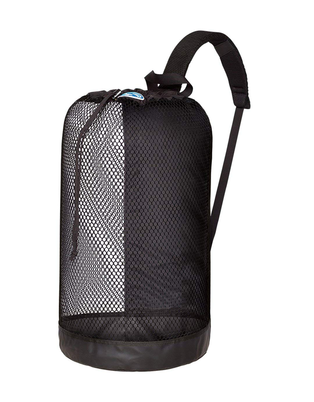 Tusa Large Roller Bag in Black /& DiveCatalogs Orange Whistle w//Lanyard /& Dive Flag Sticker