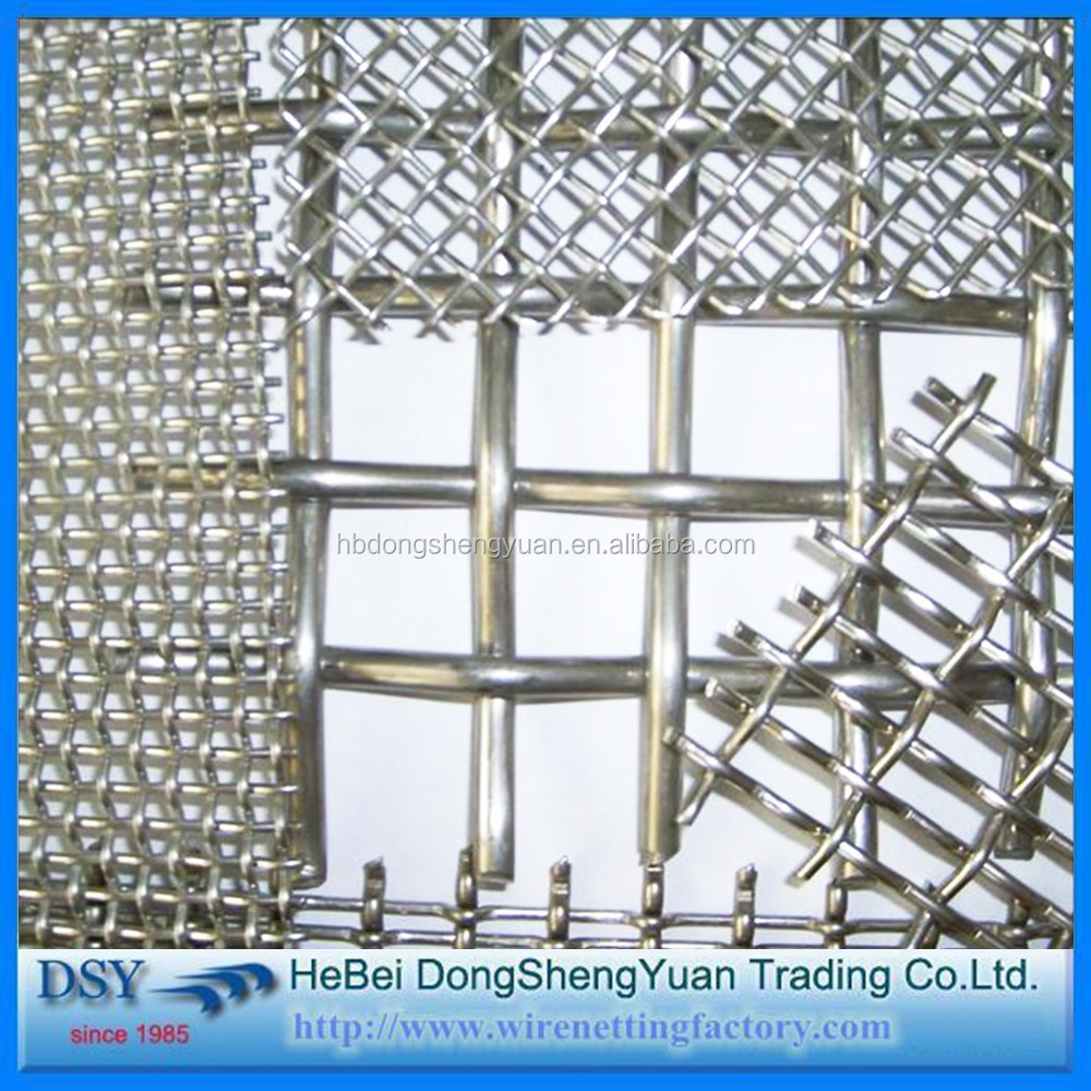 Trade Assurance Crimp Wire Mesh Stainless Steel / Crimped Woven ...