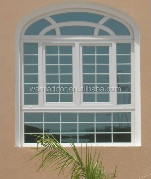 Perfect Pvc Fixed Arch With Casement Double Glass Window