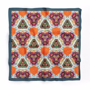 New Embroidery Geometric 100% Silk Printed Oblong Turkey Scarf Bursa