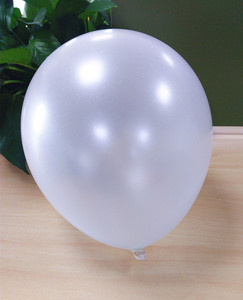 Sample free pearl latex inflatable metallic color balloon