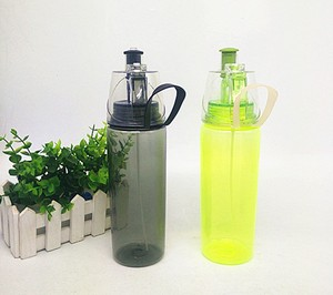 Sport spraying PS tritan material BPA free plastic water bottle for adults