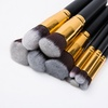 10 Oval Makeup Brush Black Shank Gold Cheap Wholesale Tools Beauty Spot Wholesale Makeup Tool Kits