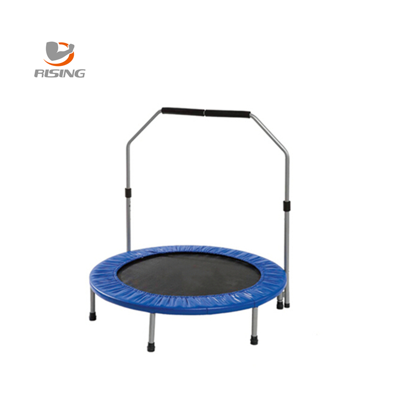 folding mini trampoline with enclosure