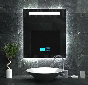 Exklusiv gef hrt bad dusche spiegel mit radio panel mp3 for Designradios badezimmer