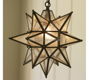Vintage Style Decor Hanging Star Candle