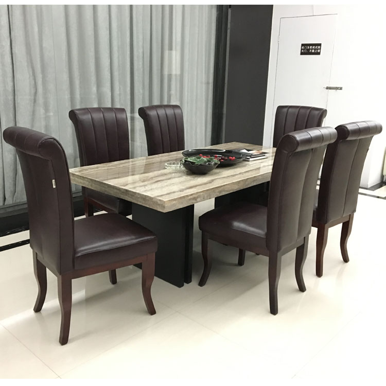 Modern Italian Style Home Furniture Elegant Dinning Table Set With Chairs Dining Room