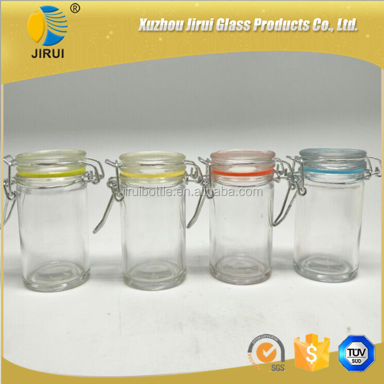 small clear sugar clip top glass bottles for sale