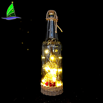 Glow in The Dark Angel Wine Bottle Decor Craft With Twinkle Fairy Lights