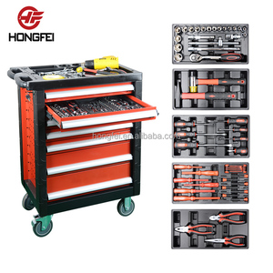 Brand new mechanic workshop tool cabinet trolley box with hand tools sets