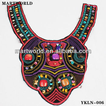 Colorful Embroidery Designs For Neck Decorationafrican Beaded