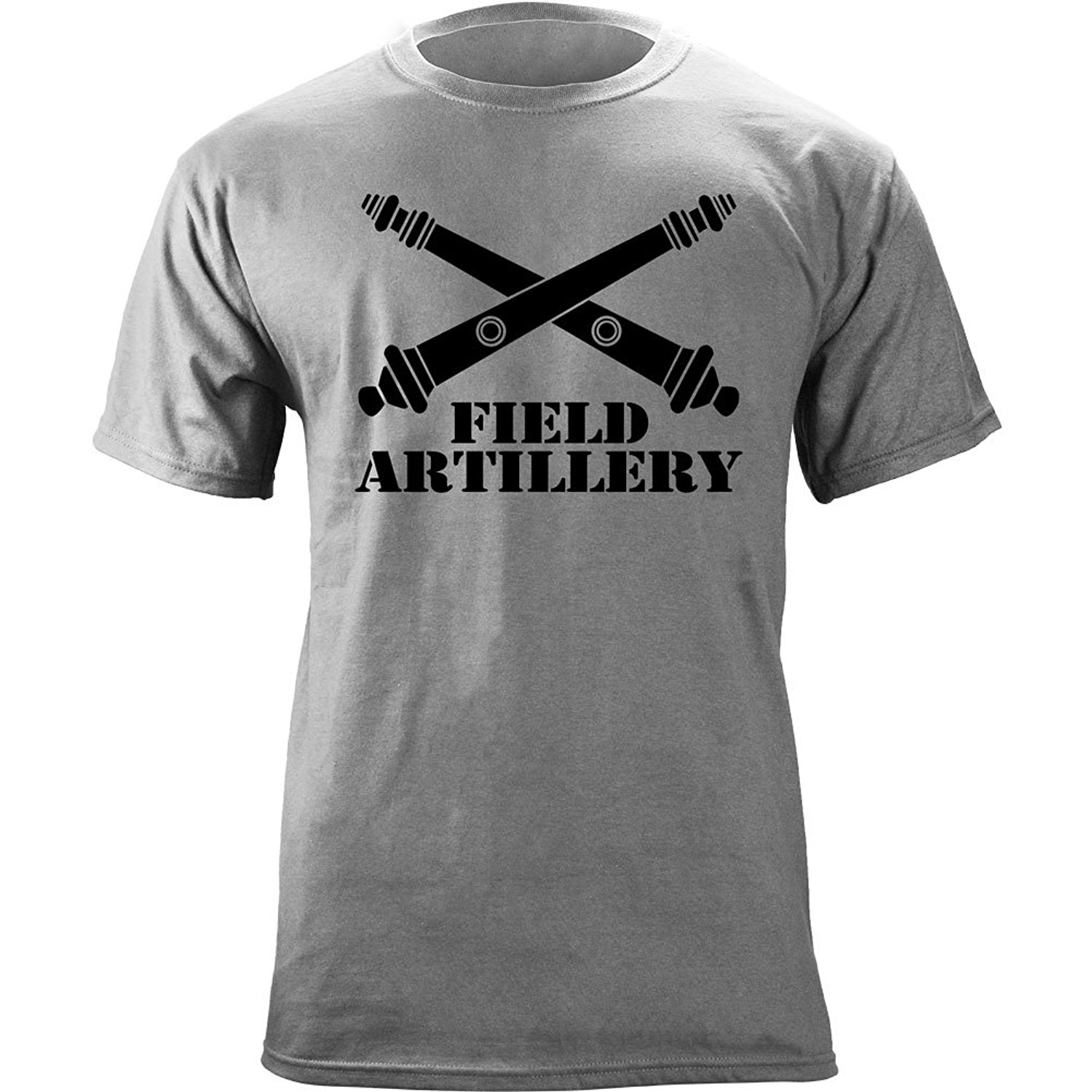 Army Field Artillery Branch Insignia Crossed Cannons Veteran Graphic T-Shirt