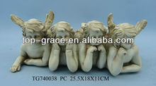 Polyresin crafts Cupid angel statues