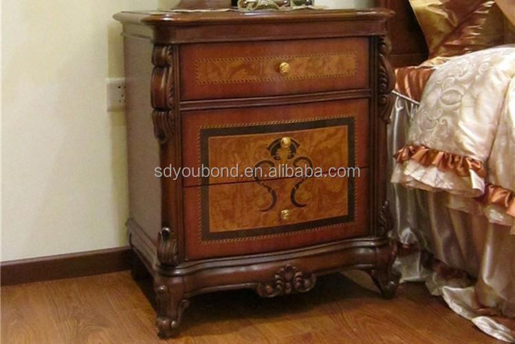 0051 europea muebles clásicos de madera tallada cama king size ...
