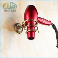 Custom Copper Wall Mount Spiral Hair Dryer Holder