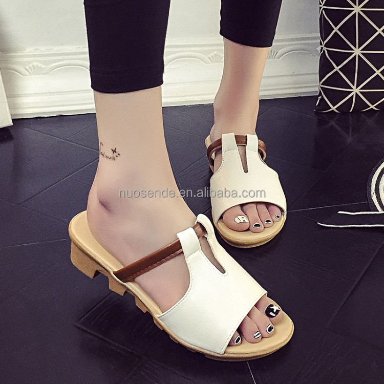Wholesale 2015 ladies sandal shoes,woman slipper,women pu slippers ...