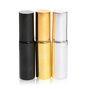 Luxury Electroplating 20ml black mini glass refillable perfume body fine mist continuous spray pump bottle