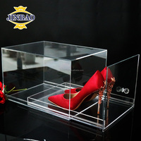 JINBAO High quality customized acrylic shoe drawer acrylic shoe closet drawer