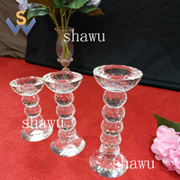 New wholesale crystal cut glass ball votive candle holder for wedding centerpiece