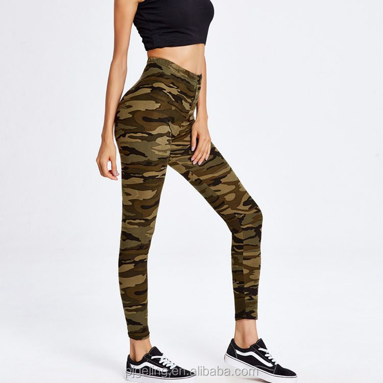 usa hot sexy girls picture print camouflage fabric cotton ladies leggings, The same as the picture
