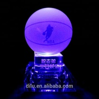 Clear Small Magic Personalized K9 LED Crystal glow Ball glass balls with led light base